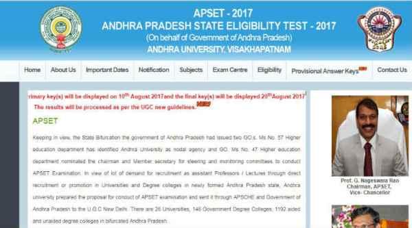 APSET, APSET 2017, apset.net.in,