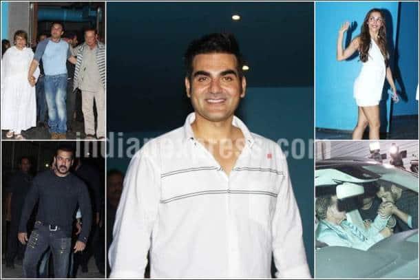 arbaaz khan birthday party, arbaaz khan sohail khan, salmna khan salim khan images, salman khan parents, arbaaz birthday pics