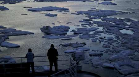 Fast-melting Arctic sign of bad global warming, sets off alarm bells