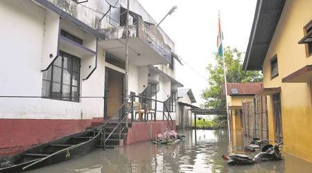 Tricolour and some relief for flood-hit in an Assam village