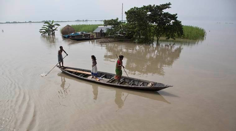 assam floods, assam, floods, northeast floods, assam flood, assam weather, Sarbananda sonowal, bihar floods, floods in india, assam flood update, assam floods death toll, indian express news