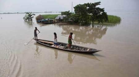 assam floods, assam, floods, northeast floods, assam flood, assam weather, Sarbananda sonowal, bihar floods, floods in india, assam flood update, assam floods death toll, indian express news
