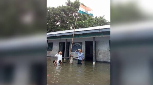 independence day, 70 years of independence, assam floods, assam floods photos, assam floods latest photos, assam floods independence photos viral facebook, indian express, indian express news