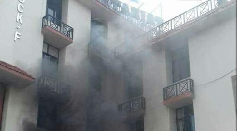 Image result for Major fire breaks out at Assam Secretariat Complex,