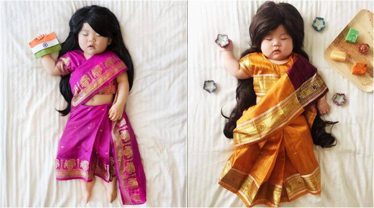 #JoeyWorldProject, baby, cute baby, baby traditonal dress, joey, laura joey world project, traditional costumes of the world, viral photoseries, photographer baby different costumes, joey nap time, viral news