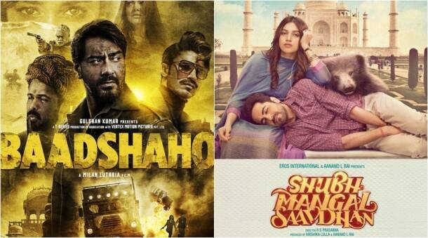 box office clashes, bollywood clashes, baadshaho poster, shubh mangal saavdhan poster