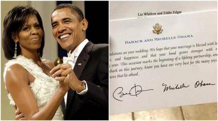 This woman sent a wedding invitation to the Obamas, and got the sweetest reply ever