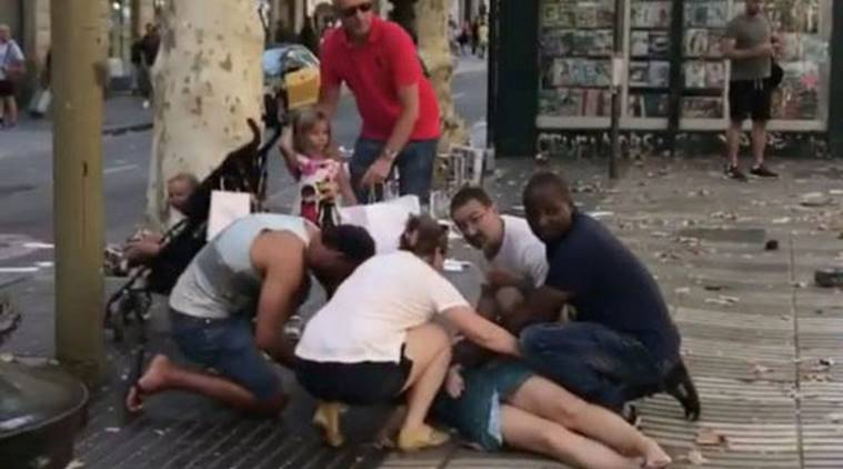 barcelona attack, spain terror attack, barcelona attack images, barcelona terror attack photo, barcelona attack video, spain attack pics, cambrils attack, barcelona pics, world leaders barcelona attack, world news, indian express