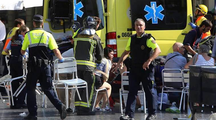 At least 13 dead in Barcelona city centre van crash