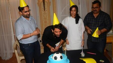 Photos: Barun Sobti gets a surprise birthday bash from his wife and makers of Tu Hai MeraSunday