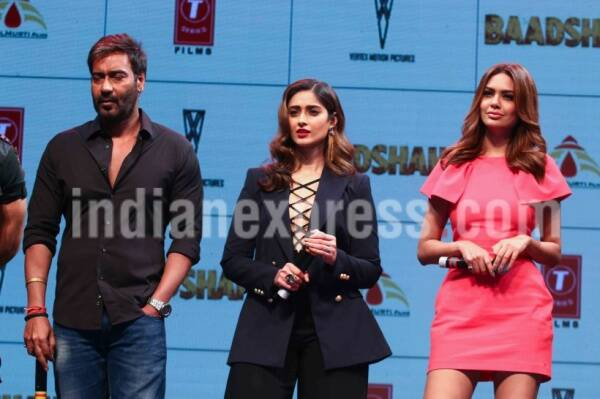 baadshaho trailer launch, baadshaho star cast, ajay devgn, ileana dcruz, esha gupta, emraan hashmi,