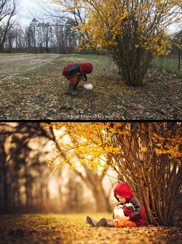 Amateur vs Pro: These before-and-after pictures show how a photographer 'sees' the world