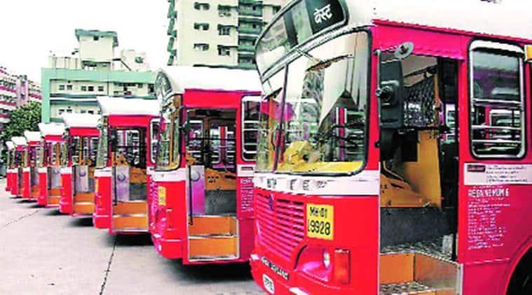 mumbai best buses, Mumbai, BEST bus runs over pillion rider