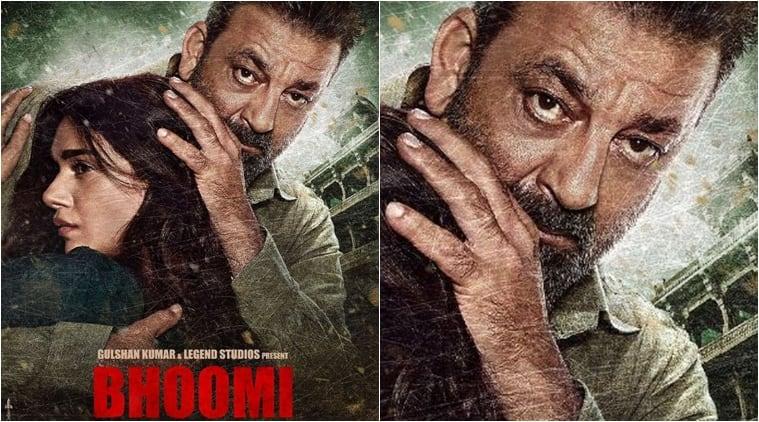 bhoomi, bhoomi poster, sanjay dutt, aditi rao hydari, sanjay dutt bhoomi