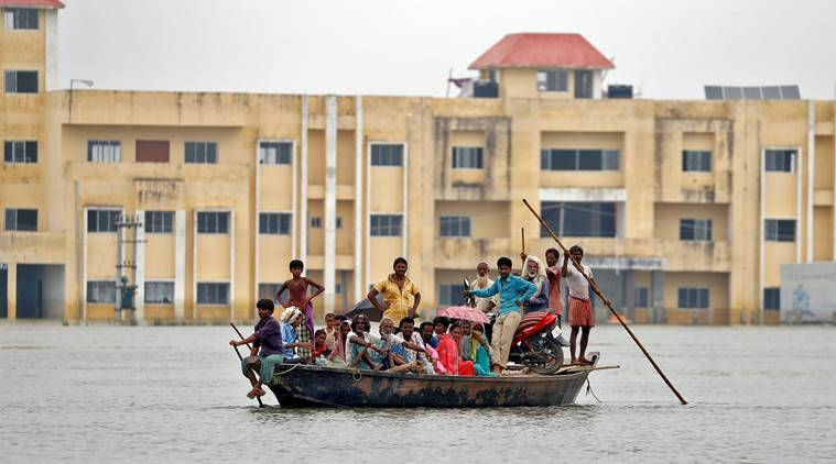 Bihar floods, Flood in Bihar, Bihar flood situation, Improvement in Bihar flood, Bihar Disaster Management, Bihar News, India News, Indian Express News