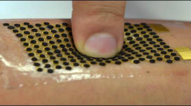 fuel cell, stretchable fuel cell, biofuel cell, 3D carbon nanotube, oxidises sweat, cathode dots, anode dots, wearable devices, power density, lithography, science news