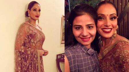 Bipasha Basu's Sabyasachi sari is incredibly gorgeous but the velvet blouse is a dampener