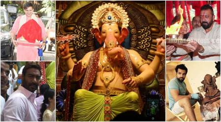 Ganesh Chaturthi 2017: Sanjay Dutt, Ajay Devgn pray to Lord Ganesha, see photos, videos