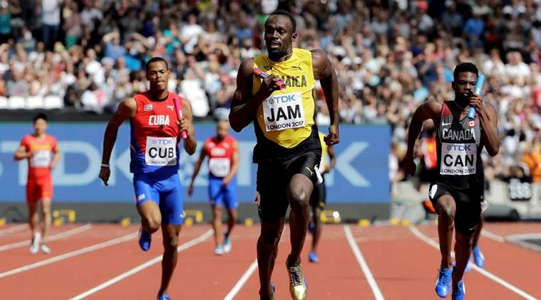 usain bolt, usain bolt final race, usain bolt race time, usain bolt relay, usain bolt race live streaming, bolt live tv channel, bolt time IST, world athletics championship, athletics news, sports news, indian express