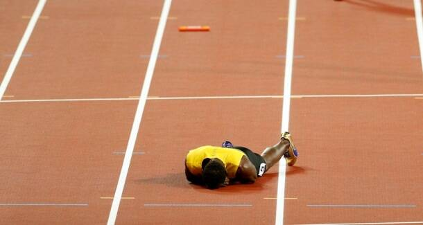 Usain Bolt limps out of farewell race