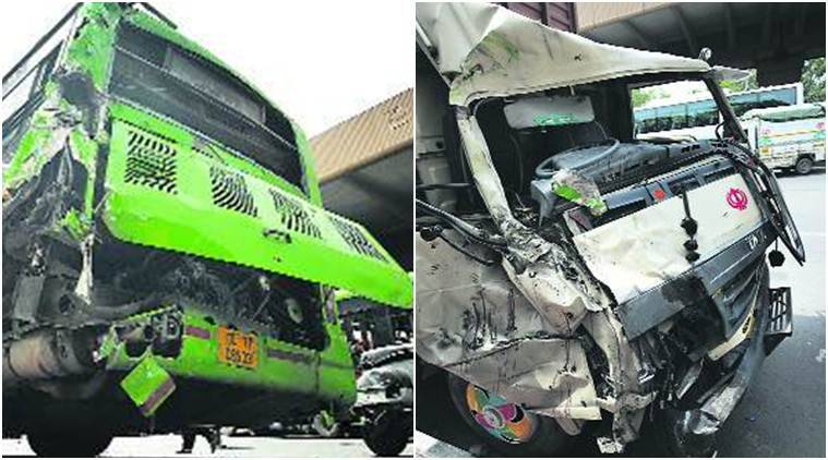 DTC drivers killed, 6 injured as mini truck rams into bus