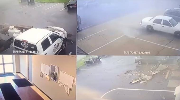 tornado, storm, heavy storm, massive storm, flip cars, cars flew in the air, flying cars, storm in salisbury, indian express, indian express news