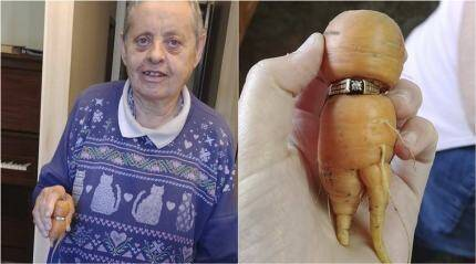 Woman finds lost ENGAGEMENT RING on a CARROT after 13 years!