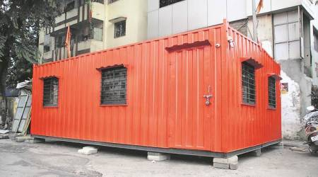Shiv Sena starts shakha from metal container in Thane, NCP objects
