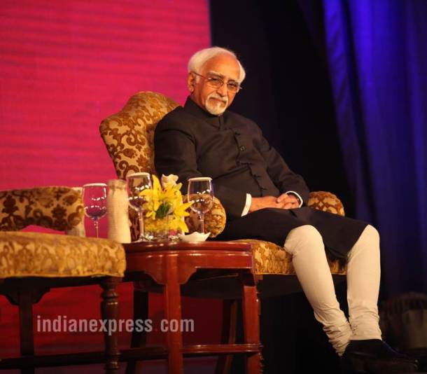 hamid ansari, vice president, hamid ansari pics, old vice president, retiring vice president of india, indian express