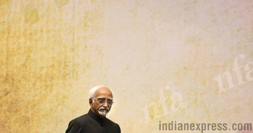 hamid ansari, vice president, hamid ansari pics, old vice president, retiring vice president of india, indian express