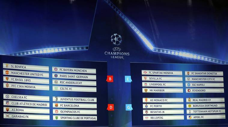 Champions League 2017 18 Draw Fixtures