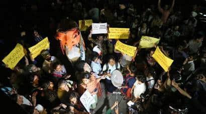 chandigarh stalking case, chandigarh march, chandigarh protest, Bekhauf Azaadi March, vikas barala, BJP, varnika kundu, india news, indian express
