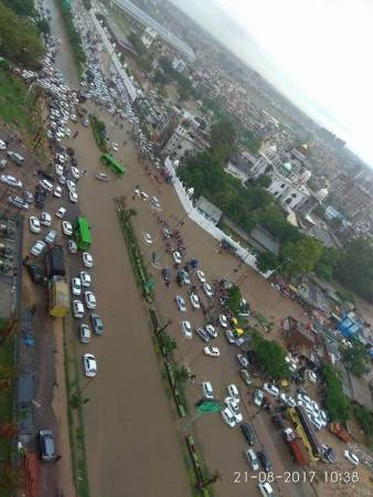 Heavy Rainfall Causes Flood In Chandigarh