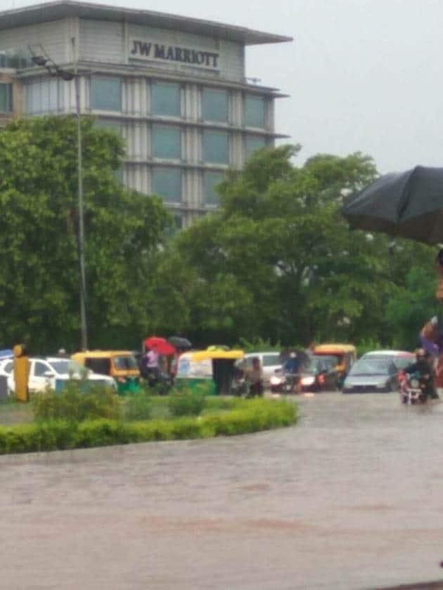 chandigarh flood, rainfall, chandigarh pics, flood images, chandigarh flood pics, punjab flood, chandigarh weather today, indian express