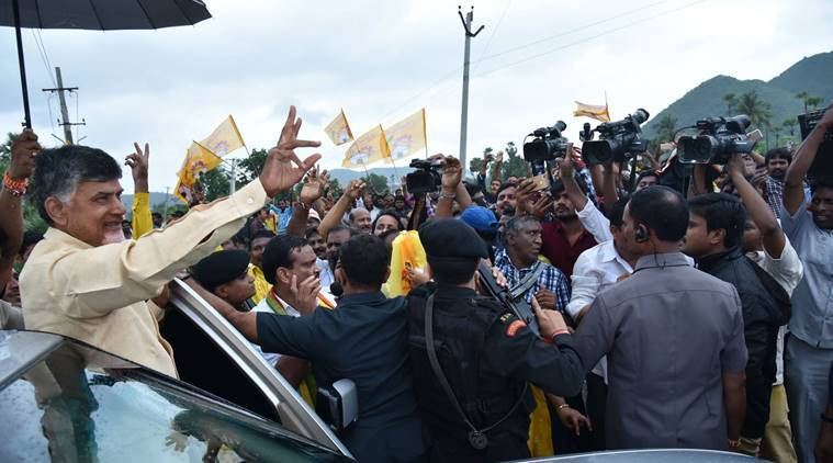 The bye-election to the Nandyal Assembly seat had set off a bitter and ugly confrontation between CM Naidu and Jagan. (Source: Telugu Desam Party/Facebook)