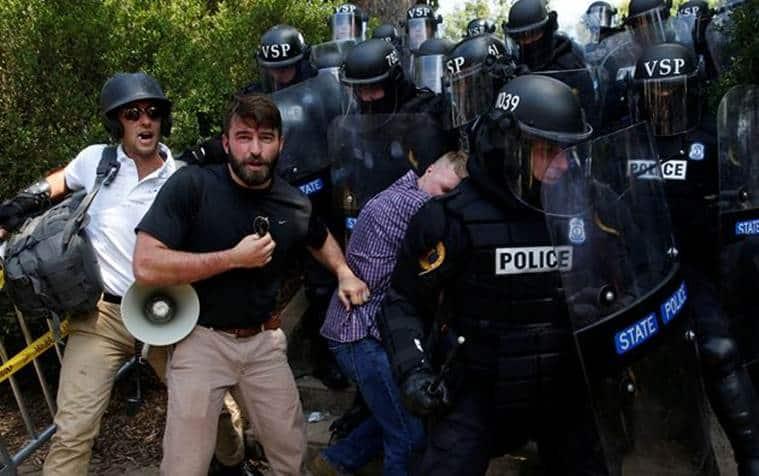Charlottesville violence, Charlottesville violence Virginia, Donald Trump, Virginia Violence, US-North Korea, USA News, World News, Indian Express News