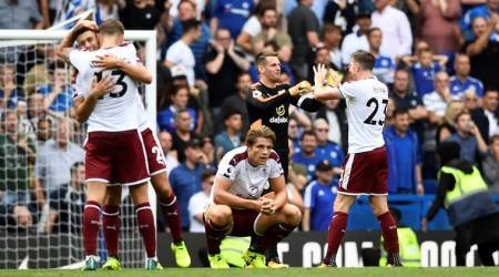 Premier League champions Chelsea reduced to nine; beaten 2-3 by Burnley
