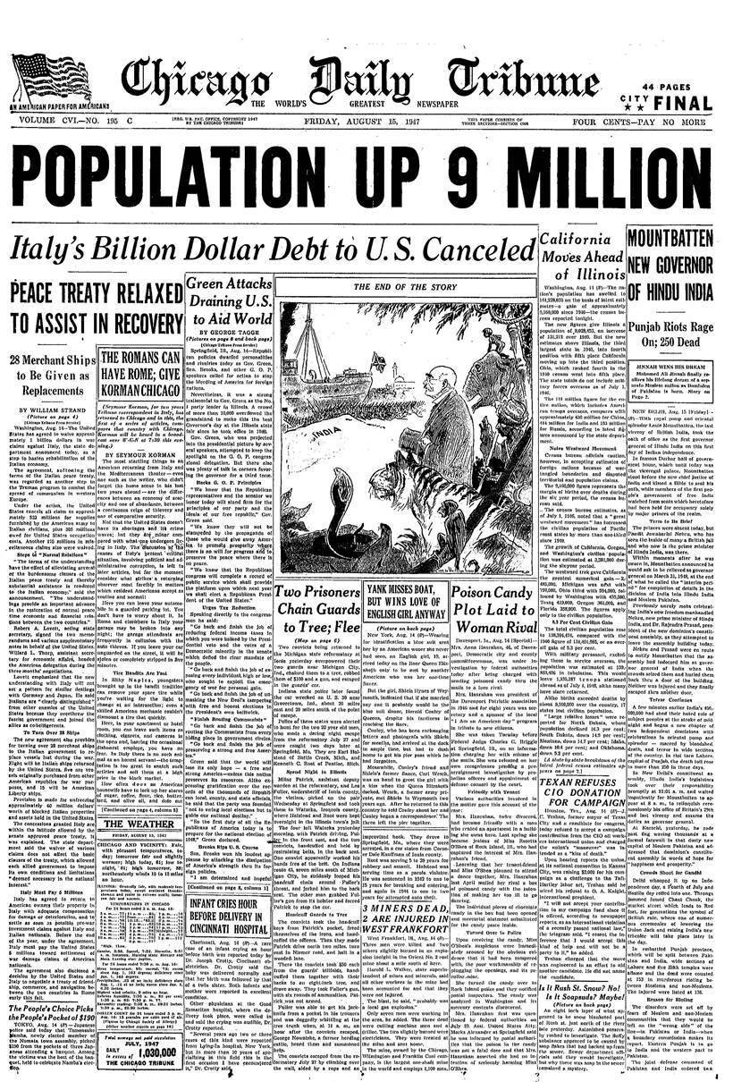 How World Newspapers Reported India S Independence In 1947 Research News The Indian Express