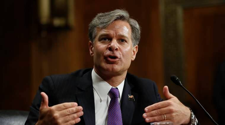 FBI director, Chris Wray, FBI director Chris Wray, Donald trump, United states, FBI, Trump FBI attacks, FBI investigation,