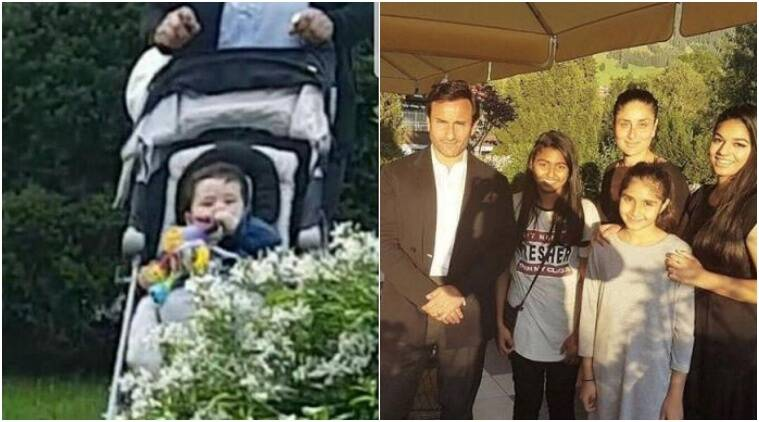 taimur kareena photos, kareena kapoor switzerland photos, taimur kareena saif vacation photos,