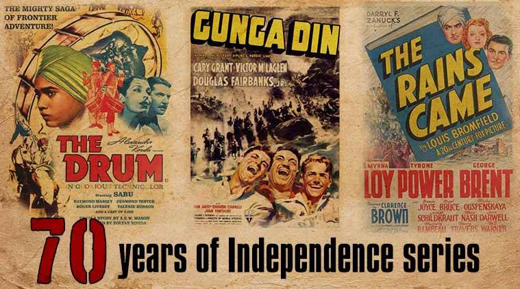 the drum, the rains came, gunga din, Independence day India, british empire