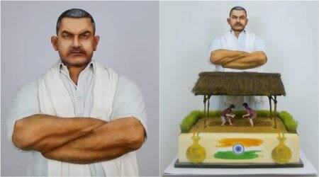 independence day, indian independence day, dangal, aamir khan, dangla cake, world most expensive cake, most expensive cake, dangla theme cake, food news, indian express,