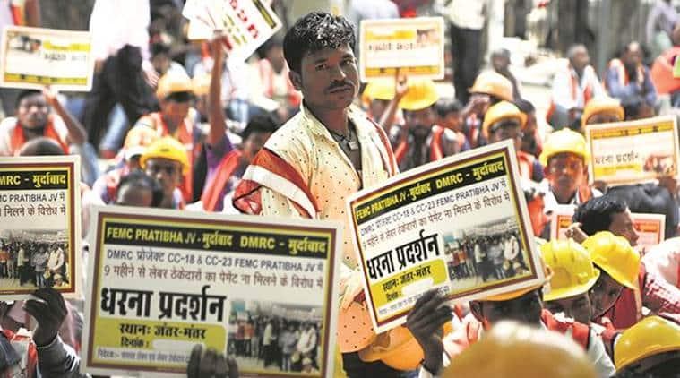 Delhi Metro Workers Strike, DMRC Workers Strike, Delhi Metro, India News, Indian Express, Indian Express News