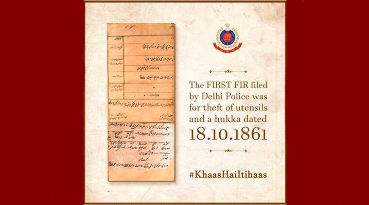 delhi police, delhi police tbt, delhi police throwback photo, delhi police crime, delhi police first crime, delhi police twitter, indian express, indian express news
