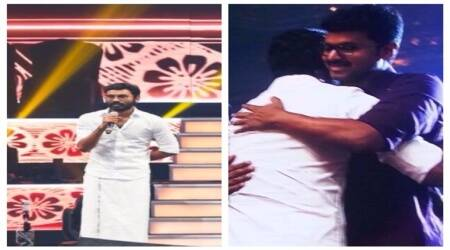 Dhanush Mersal album launch pictures, Dhanush Vijay images, Dhanush Vijay pictures, Mersal Album launch pictures, Mersal Album launch images