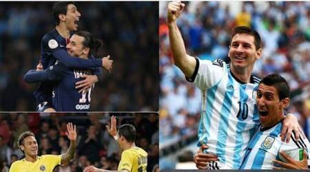 Angel Di Maria calls Neymar, Ronaldo, Messi 'lucky kids' to have played withhim