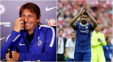 Antonio Conte laughs off Diego Costa's 'criminal' comments; calls the striker 'past'