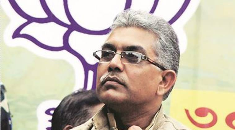 Durgapur civil poll, BJP, Central forces, West Bengal bypolls, Durgapoll election, Dilip Ghosh, India news, Indian Express