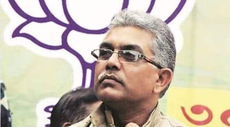 Dilip Ghosh, West Bengal BJP,IPS officer Bharati Ghosh,Mukul Roy, Kolkata News, Indian Express