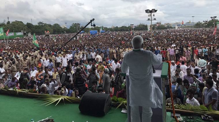 RJD rally highlights: 'Nitish Kumar became minister at Centre because of Sharad Yadav,' says Lalu Yadav | The Indian Express